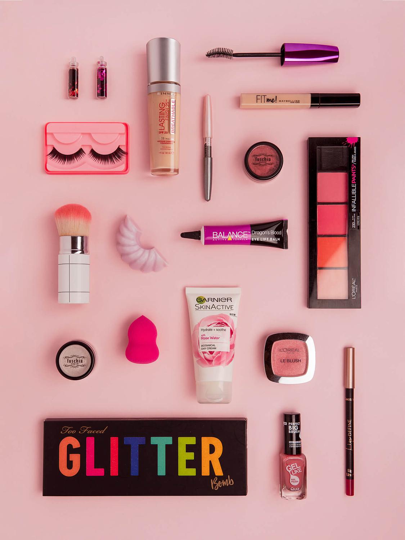 termék-fotózas-kozmetikum-flatlay-rózsaszín
